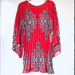 NWT Nicole Miller Artelier Orange/Red Dress S/M